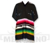 Mexické Pončo Colorado černé