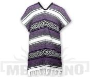 Mexické Pončo Blanket fialové