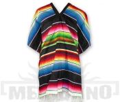 Mexické Pončo Saltillo černé