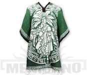 Mexické Pončo Mayan tmavě zelené