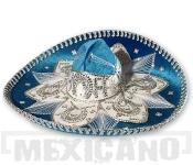 Sombrero Mariachi Deluxe azurovo-stříbrné