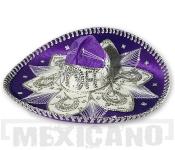 Sombrero Mariachi Deluxe fialovo-stříbrné