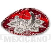Sombrero Mariachi Deluxe červeno-stříbrné