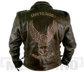 Kožená bunda Live to Ride Brown