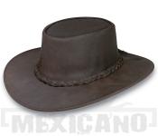 Kožený klobouk Outback Hat hnědý