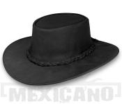 Kožený klobouk Outback Hat černý
