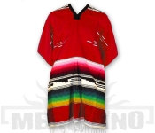 Mexické Pončo Colorado červené