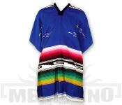 Mexické Pončo Colorado modré