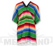 Mexické Pončo Saltillo zelené