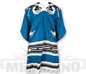 Mexické Pončo Eagle modré