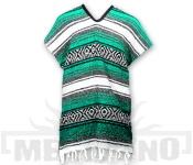 Mexické Pončo Blanket světle zelené