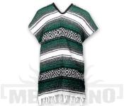 Mexické Pončo Blanket tmavě zelené