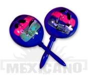 Mexické maracas modré