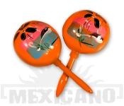 Mexické maracas oranžové