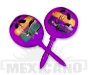 Mexické maracas fialové