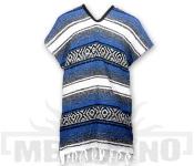 Mexické Pončo Blanket modré