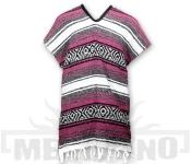Mexické Pončo Blanket růžové