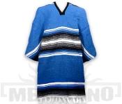 Mexické Pončo Stripe modré