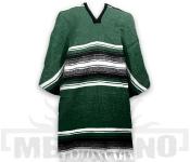 Mexické Pončo Stripe zelené