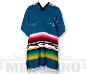 Mexické Pončo Colorado azurové