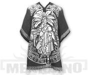 Mexické Pončo Mayan šedé