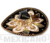 Sombrero Mariachi Deluxe černo-zlaté