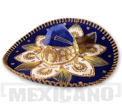 Sombrero Mariachi Deluxe modro-zlaté