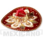 Sombrero Mariachi Deluxe červeno-zlaté