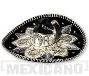 Sombrero Mariachi Deluxe černo-stříbrné