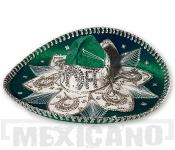 Sombrero Mariachi Deluxe zeleno-stříbrné