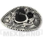 Sombrero Mariachi Escueto černo-stříbrné