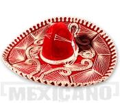 Sombrero Mariachi Escueto červeno-stříbrné