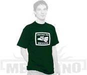 Tričko Hecho en Mexico zelené