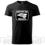 Tričko Hecho en Mexico černé