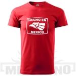 Tričko Hecho en Mexico červené