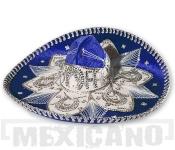 Sombrero Mariachi Deluxe modro-stříbrné