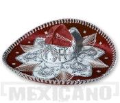 Sombrero Mariachi Deluxe vínovo-stříbrné